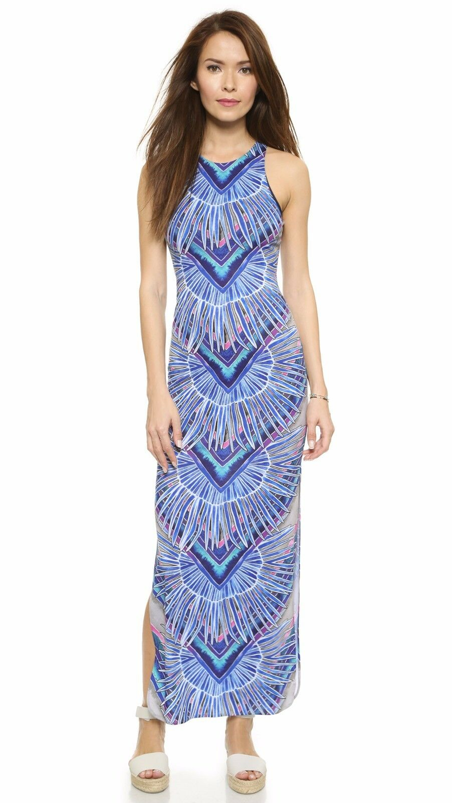 MARA HOFFMAN Rising Palm Column Maxi Dress Size S NWT  242