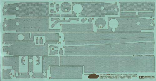 Tamiya TA12647 1:35 Zimmerit Coating Sheet for 1//35 Pz.Kpfw.VI Tiger I