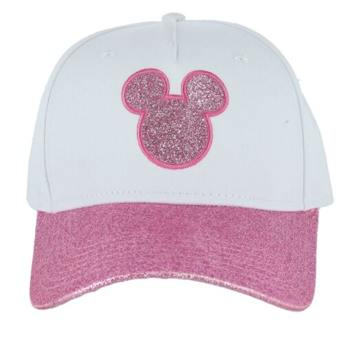 New Disney Women/'s Shimmer Mickey Mouse Baseball Cap