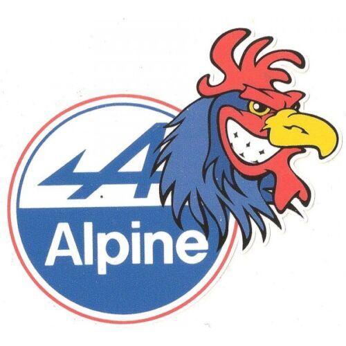 RENAULT ALPINE right COQ droit sticker vinyle laminé