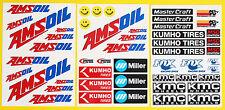 Rc Grande 5 Escala Amsoil Corr carreras cortas Laminado Stickers Calcomanías