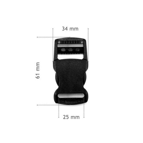 POM Plastic quick adjustable side release buckles for 25 mm webbing repair AOV