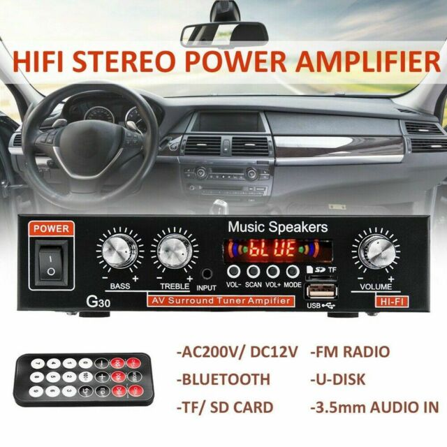 800W Digital Amplifier HIFI Bluetooth Stereo Audio AUX FM AMP USB MP3 Car&H U3V9