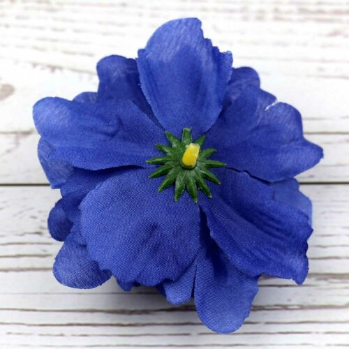 Large 15Pcs Artificial Blue Peony Silk Fake Flower Heads For DIY Wreath Craft