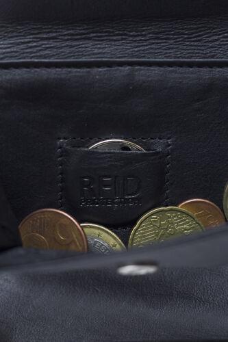 LEAS Große Vollleder Damen Geldbörse mit RFID Schutz Reißverschluss rundherum