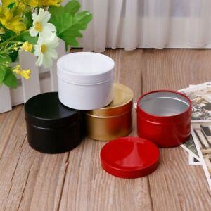Image is loading Mini-Tin-Tea-Storage-Box-Round-Metal-Case- & Mini Tin Tea Storage Box Round Metal Case Wedding Favor Organizer ...