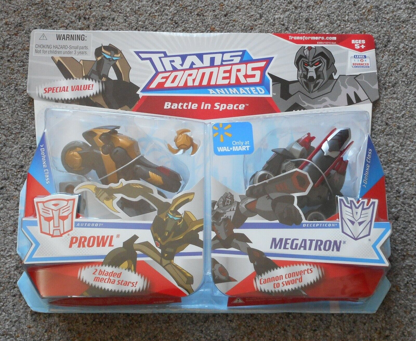 PROWL V  MEGATRON Battle in Space Transformers Animated Only at  WalMart Sealed