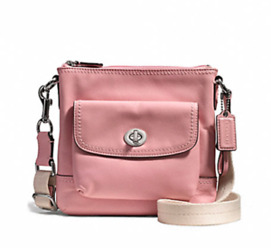 NWT Coach Park Leather Swingpack F51107 Pink Tulle
