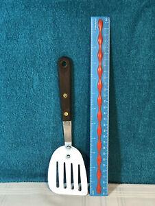 Vintage-LEFT-HANDED-UNBRANDED-Short-9-1-4-Long-Wood-Handle-Spatula-Rivited