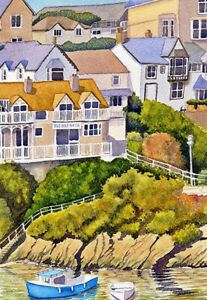 Newquay-Harbour-Cornwall-art-print-from-a-Watercolour-painting-by-Alex-Pointer
