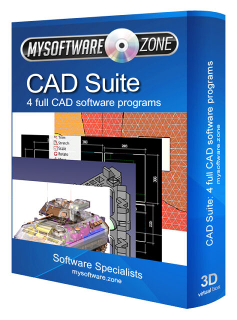 CAD Suite - 4 Software Programs 2D 3D Architect Auto Engineering Product Design