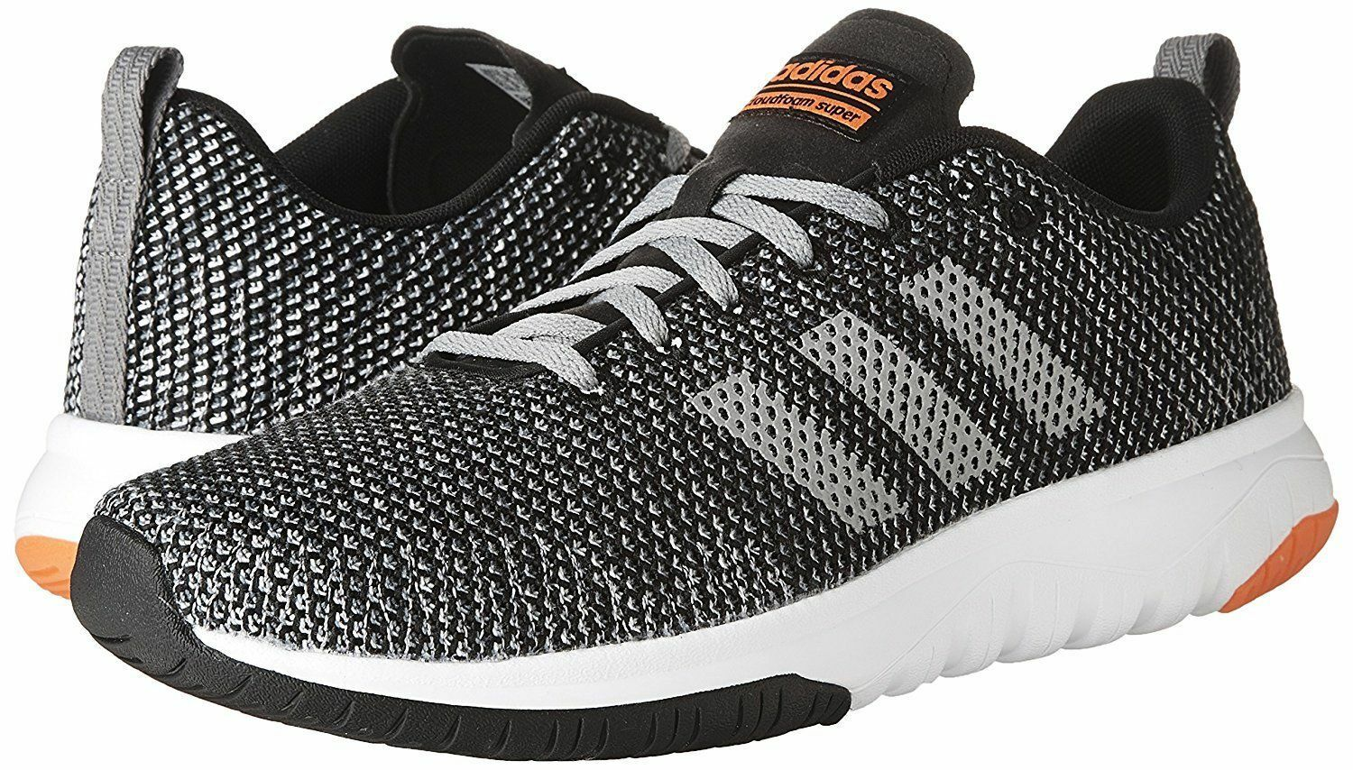 ADIDAS NEO CF SUPER FLEX LOW SNEAKERS Uomo SHOES BLACK/GREY BB9757 SIZE 12 NEW