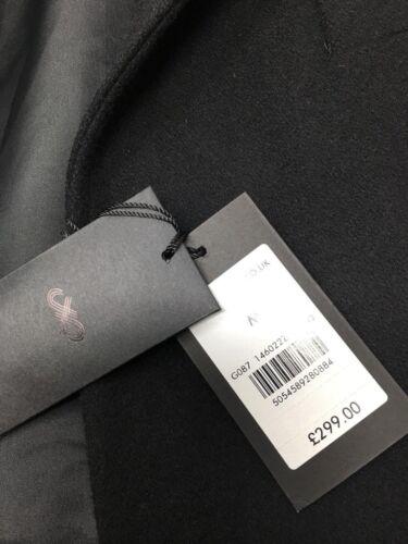 Jaeger laine mélangée Manteau-Noir-S XL £ 299 M L