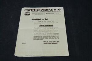 Age-Print-Pantherwerke-Ag-Bicycle-Old-Vintage-Advertisement-Advertising