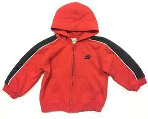 68c8b91c6f Nike 3T Toddler Boys Zip Up Active Wear Red Black Hoodie Sweater | eBay