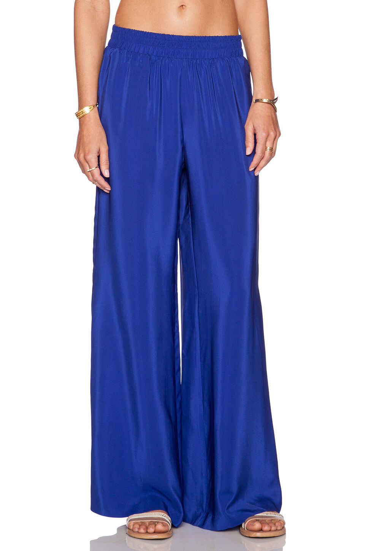 Amanda Uprichard Silk Wide Leg Pants, Multi, Size S, MSRP