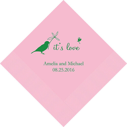 500 Whimsical Personalized Wedding Luncheon Napkins