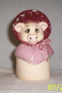 Pig #*321 - 16.1232.2  ** Ceramic Victorian Lady Pig Pie VENT