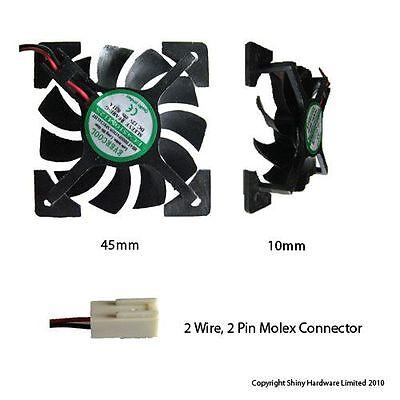 Evercool 45mm 4.5cm 45 x 45 x10mm 12 volt fan EC4510M12S-X 45mm
