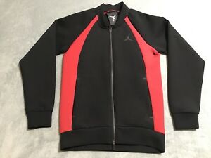 e3cde233c9648e Air Jordan Flight Tech Sportswear Jacket Men s Sz Small S Black Red ...