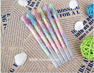 Highlighter 6 Color Discoloration Fluorescent Pen Nite Writer Pen, 1pcs!