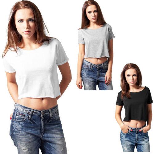 Urban Classics Damen T-Shirt bauchfrei Top T Shirts XS S M L XL