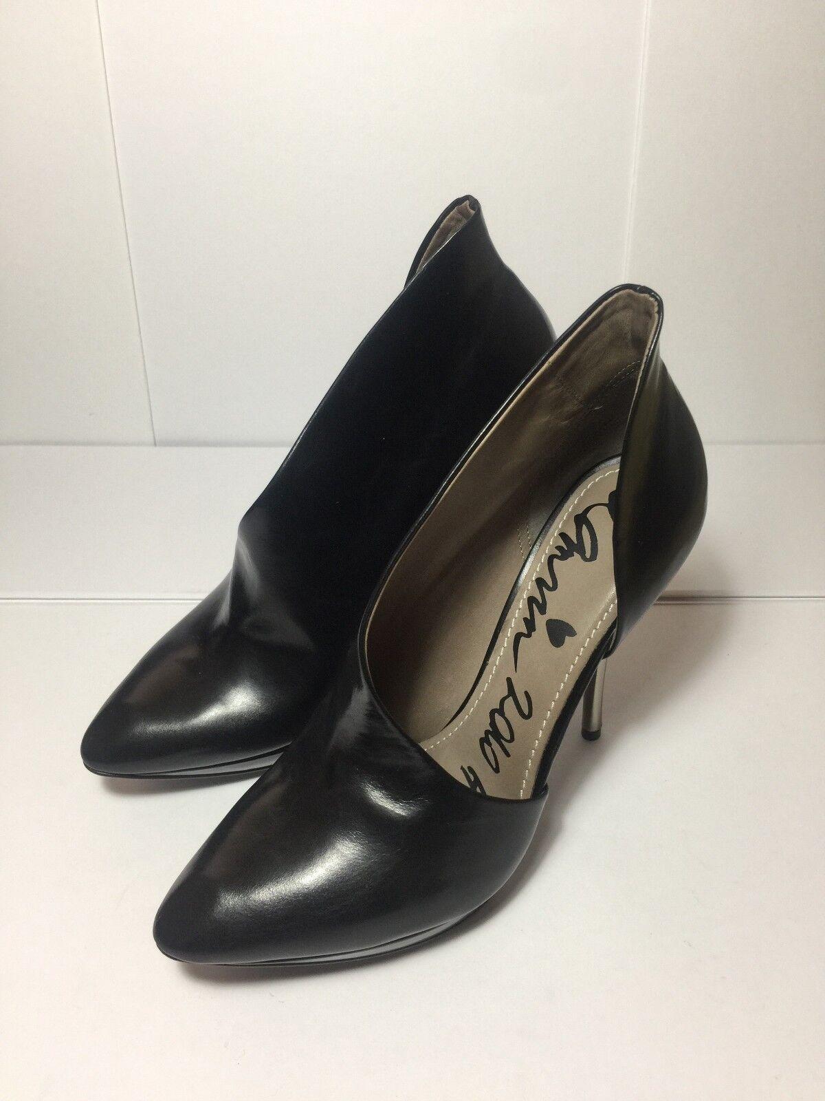 =STYLISH= LANVIN Runway 2010 Black Asymmetric Leather Ankle Metal Heels EU37.5