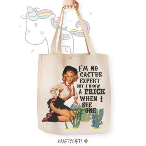 Pin Up Girl Prick Adult Humour Joke Shopping Tote Grocery Reusable Hand Bag TB01