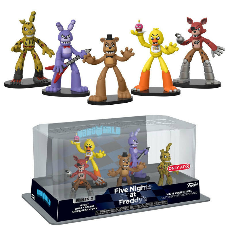 Five Nights at Freddy's HeroWorld Target Exclusive Mini Figure Collection 5 P...