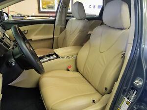 Katzkin Ivory Leather Replacement Interior Seat Cvrs Fits 2012 2015