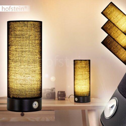 Touchdimmer LED Nacht Tisch Lampen Leuchten schwarz Schlaf Wohn Raum Beleuchtung