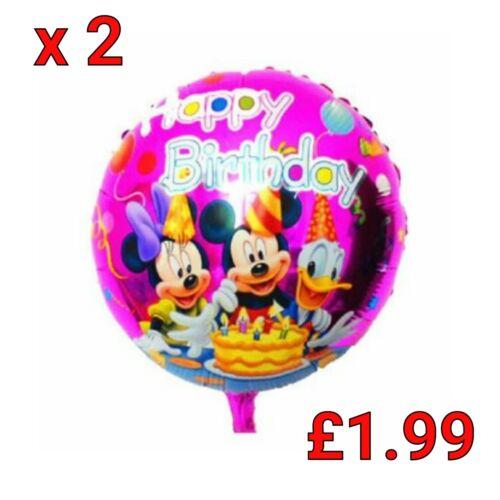 * ronde Minnie Mouse Donald Anniversaire helium foil balloon Ballons Fête Enfants *