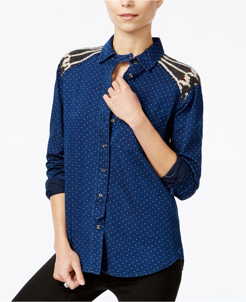 NWT Free People SAGE SWEATER BUTTON DOWN Retail
