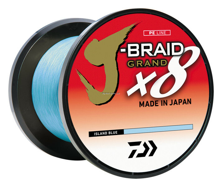 NEW Daiwa JBRAID GRAND 8X 15lb 3,000YDS BULK SPOOL ISLAND blu JBGD8U153000IB