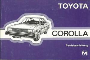 TOYOTA-COROLLA-E70-Betriebsanleitung-1982-Bedienungsanleitung-Handbuch-BA