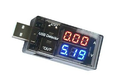 USB Charger Doctor Voltage Current Meter Mobile Battery Tester 2 Out Double Out
