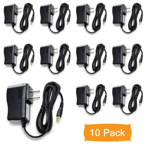Gawker 10 Pack DC12V 1A UL listed Power Supply Adapter for CCTV cameras