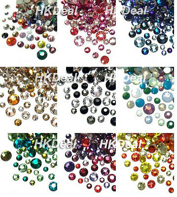 108 x Swarovski Crystal Mix Size & Color Rhinestone Nail Art [11 options]  C01