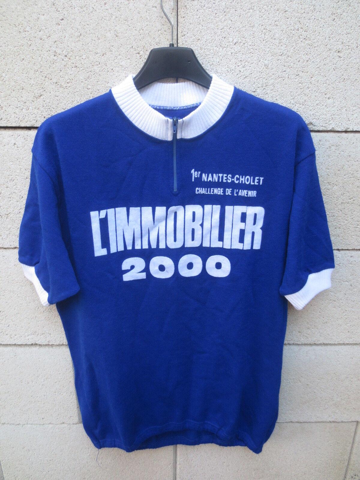 Maillot cycliste CHALLENGE DE L'AVENIR  Nantes Cholet vintage shirt jersey trikot  fantastic quality