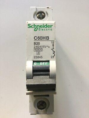 Schneider électrique C60HB B20 20 A 60898 MCB