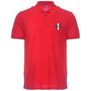 aec0f7f50 Moschino Polo T-Shirt Tee Gym Diamond Logo Signature Red M, L, XL ...