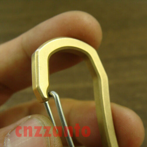 "2.12/"" brass Carabiner Spring Snap Hook Clip for keychain key ring KC182 54mm"