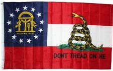 Georgia DON'T TREAD ON ME State Flag 3x5 ft Gadsden Tea Party Rattlesnake GA