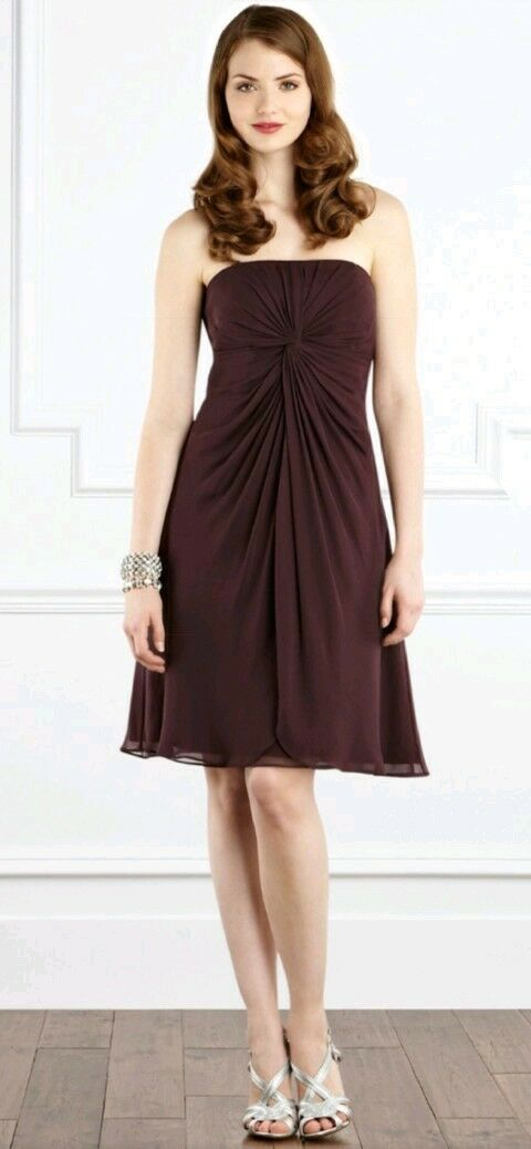 58bafe904b80 COAST Melody dress size --NEW WITH TAGS-- 100% silk aubergine 8 ...
