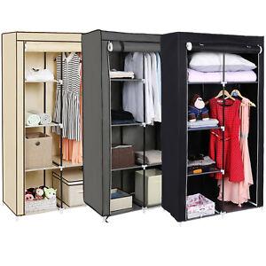Faltschrank-Kleiderschrank-88x170x45cm-Stoffschrank-Garderobe-Aufbewahrung-Regal