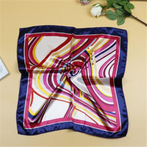 Hot Femme Big Square Silk-Like Satin Large écharpe Wrap 50cm*50cm impression Châle