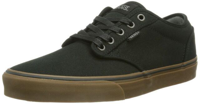 6de4889bfc6d2 Vans Men's Atwood (12 oz Canvas) Black/Gum Skate Shoe 9 Men US
