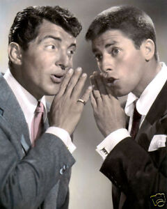 "Dean Martin & Jerry Lewis Hollywood Legends 8x10"" Hand Farbe Getönt Foto"
