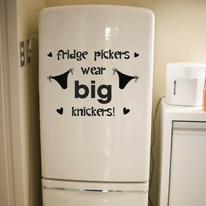 Fridge sticker funny humorous kitchen dining room art for Dining room wall quote decals