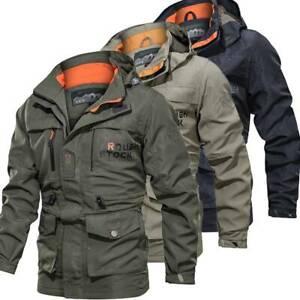 Men-039-s-Waterproof-Winter-Outdoor-Combat-Tactical-Coat-Soft-Shell-Military-Jackets